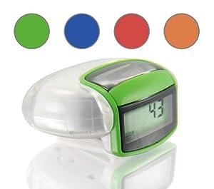 Incutex solar Schrittzähler Kalorienmesser, Pedometer mit LCD Display, Stepcounter, Schrittmesser Grün