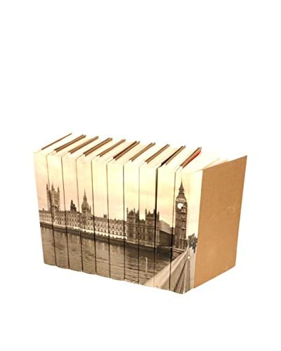 Set of 10 Image Collection Big Ben Books, Cream/Brown/Grey