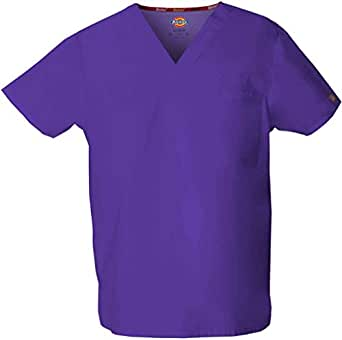 Dickies 83706 Adult's V-Neck Top Grape X-Small