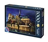 D-Toys - NIGHT LANDSCAPES Jigsaw Puzzle 1000 - Notre Dame, Paris, France - DT64301-NL-08