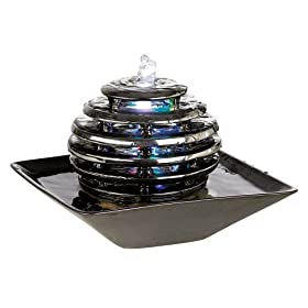 Genial Front. Metallic Chrome LED Light Table Fountain: Home Improvement