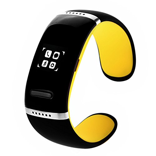 Oceantree Bluetooth Smart Bracelet Wrist Watch Phone For Ios Android Samsung Iphone Htc Oled Display (Yellow)