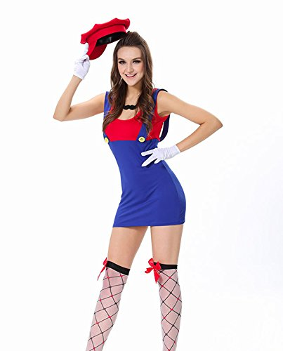 Women's Super Mario Brothers Deluxe Costume Red
