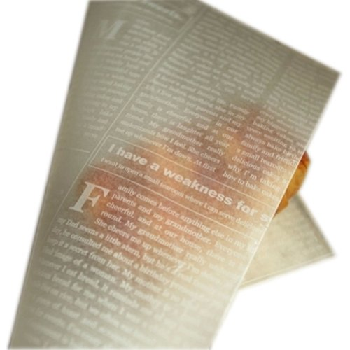Creative Useful News Paper Pattern Wax Paper Greaseproof Baking Paper 8.5*9.8