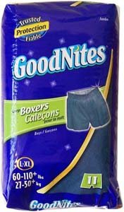 Goodnites Boxers Style Sleep Shorts for Boys,