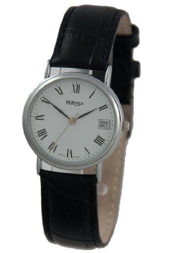 Bernex GB11219 - Reloj para hombres, correa de cuero color blanco