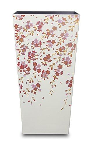 タツクラフト ダスボックス L角 桜 ホワイト 蒔絵 フタなしゴミ箱 インテリア ホーム&キッチン