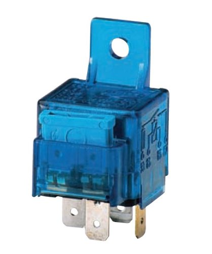 HELLA 003530041 12V/25 Amp SPST Mini ISO Relay with 25 Amp Fuse and Bracket