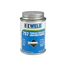 E-Z Weld 75701 Pipe Thread Seal Compound Sealant, 4 fl oz Can, Turquoise (Case of 24)