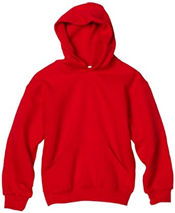 MJ Soffe Boys 8-20 Basic Hooded Sweatshirt, Red, Small