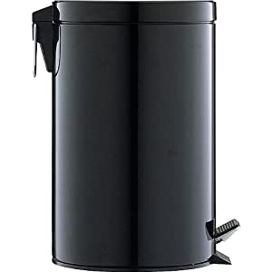 12.5 QUART BLACK STEP OPEN TRASH CAN