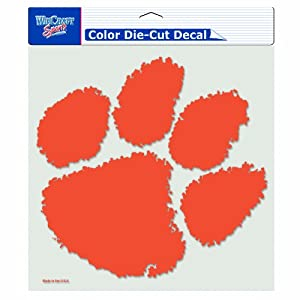 Buy NCAA Clemson Tigers 8-by-8 Inch Diecut Colored Decal by WinCraft
