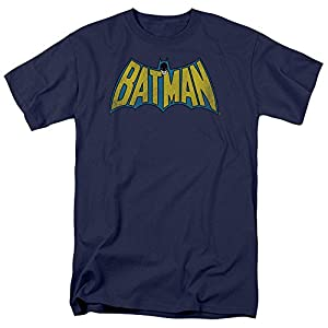 DC Comics Classic Batman Logo Mens Short Sleeve Shirt NAVY 4X at Gotham City Store