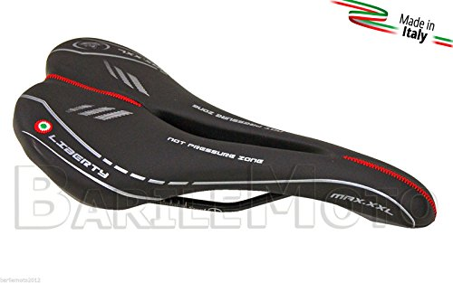 Sella MONTEGRAPPA LIBERTY MAX ANTIPROSTATA Nero Bici FIXED - SCATTO FISSO - MOUNTAIN BIKE - MTB - CORSA - STRADA - IBRIDA