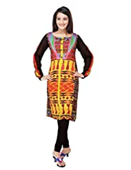 ADS Womens Digital Print Multicolour Kurti/Tunic