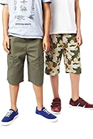 2 Pack Pure Cotton Drawstring Shorts