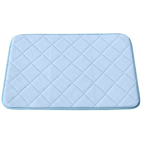 Bath Rug, Soft Mat,15.5quot;L By 23.5quot;W, Light Blue Home Garden Bat