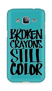 AMEZ broken crayons still colour Back Cover For Samsung Galaxy J2