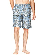 North Coast Postcard Print Quick Dry Swim Shorts