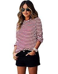 Bluetime Women Long Sleeve Stripe Pat…