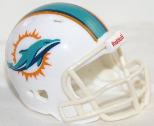 MIAMI DOLPHINS NFL Riddell Revolution POCKET PRO Mini Football Helmet