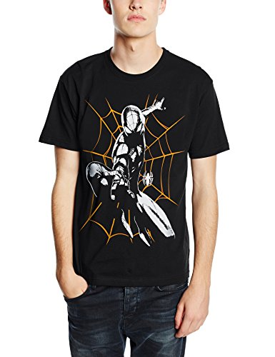 Plastic Head Marvel Ultimate Spiderman Shooting-T-shirt  Uomo    nero Small