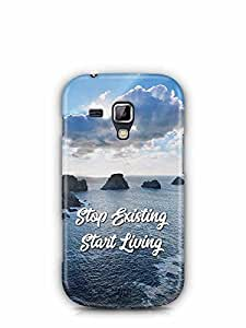 YuBingo Stop Existing. Start Living Designer Mobile Case Back Cover for Samsung Galaxy S Duos