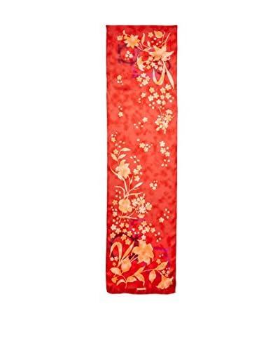Salvatore Ferragamo Women's Floral Silk Scarf, Red
