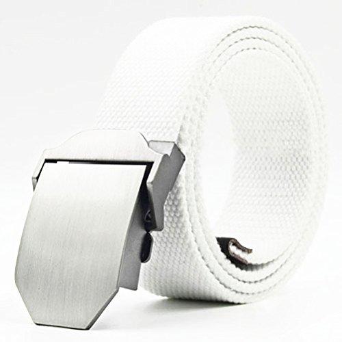 Cintura uomo - causale Cintura / Canvas Belt / Outdoor Tessitura Belt / versione coreana di jeans Cintura, Bianco