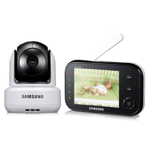 Samsung Sew-3037W Wireless Pan Tilt 1 Pack And Zoom, 3.5 Inch Video Baby Monitor Infrared Night Vision Product Popular
