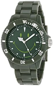 "Smiley ""Happy Time"" Women's WGS-UDGV01 Urban Dark Green Analogue Watch"