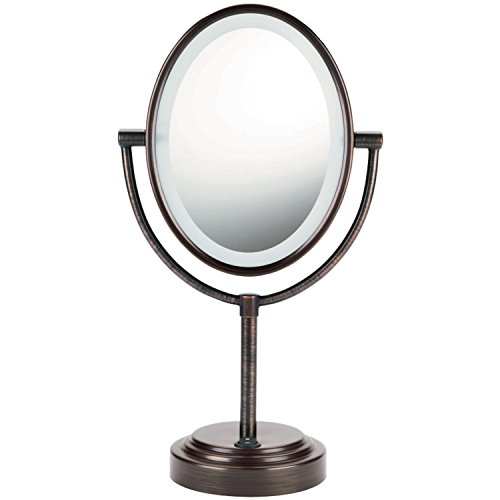 Conair Oval Double-Sided Lighted Mirror - Oiled-Bronze Finish (Lighted Vanity Mirror Conair compare prices)