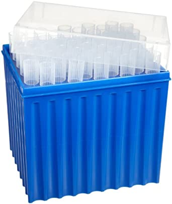 Wheaton W851363 Non-Sterile Pipette Macrotip, 5mL Volume, Natural (Case of 2 Racks, 50 Tips Per Rack)