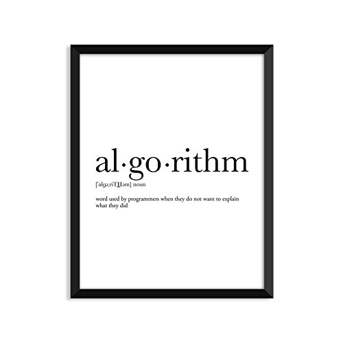 Algorithm definition, dictionary art print, office decor, minimalist poster, funny definition print, definition poster, quotes, christmas, gift for programmers, computer engineers