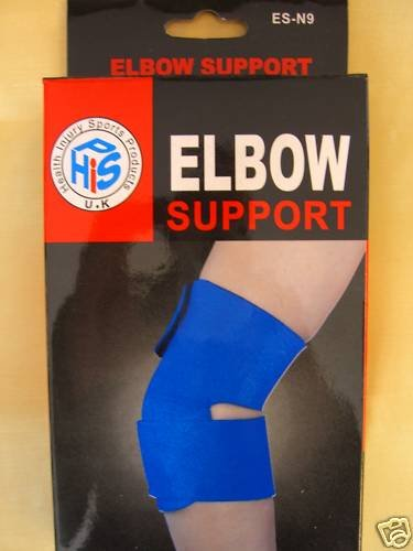 NEOPRENE ADJUSTABLE ELBOW SUPPORT BRACE GYM INJURY