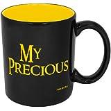 Funny Guy Mugs My Precious Ceramic Coffee Mug, Black/Yellow, 11-Ounce