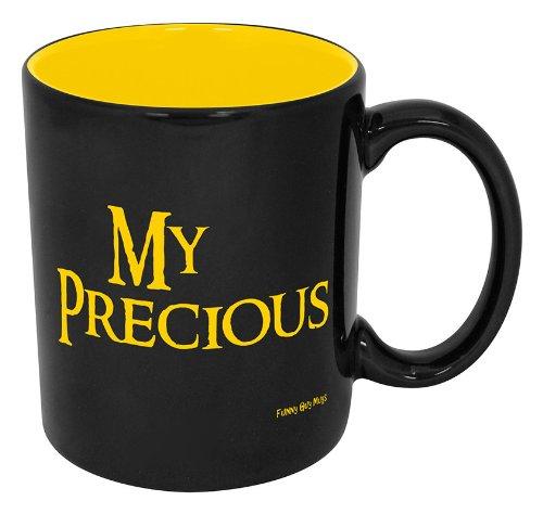 Funny Guy Mugs My Precious Ceramic Coffee Mug, Black/Yellow, 11-Ounce The Hobbit Geek Fantasy Gift