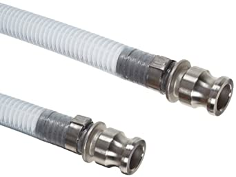 Unisource 1700 PVC Food Suction/Discharge Hose Assembly, Stainless Steel Cam And Groove Connection
