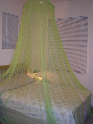 Lime Green Hoop Bed Canopy Mosquito Net Fit Crib, Twin, Full, Queen, King