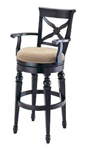 24 fabric rustic black wooden high back swivel bar stool home bars