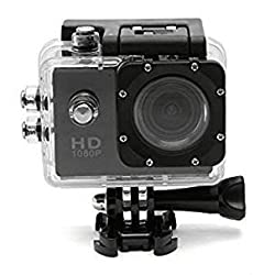 AFUNTA New Waterproof SJ4000 Helmet Sports DV 1080P Full HD H.264 12MP Car Recorder Diving Bicycle Action Camera 1.5 Inch LCD 170¡ãWide Angle Lens Outdoor Waterproof HD VCR/CAR DVR/Camera G-Senor Motorbike Camcorder DVR (Black)