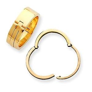 14K Gold Lockshank Ring Shank 7.5mm Sz 11
