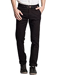 Beevee Men's Cotton Tapered Trousers - B01B7VCJUY
