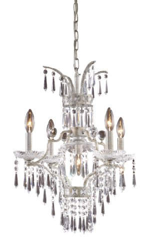 Elk 4055/4+1 5-Light Chandelier In Sunset Silver Elk B004HX2O78
