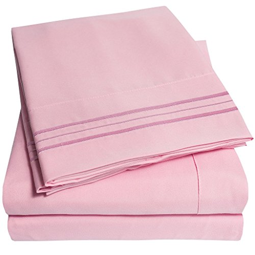 1500-Supreme-Collection-Bed-Sheets-PREMIUM-QUALITY-BED-SHEET-SET-LOWEST-PRICE-SINCE-2012-Deep-Pocket-Wrinkle-Free-Hypoallergenic-Bedding-Over-40-Colors-3-Piece-Twin-Pink
