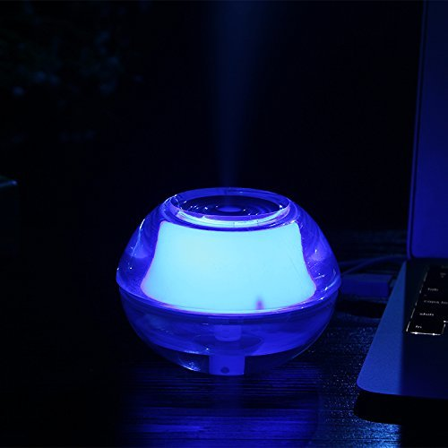 SG portable Mini USB Led Luminous Humidifier Office, Home, Car Air Purifier Aroma Diffuser (Blue)-Retail Package