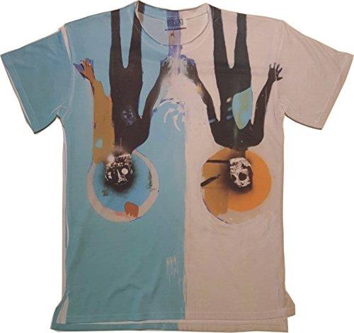 T-shirt fantasia celeste (m)