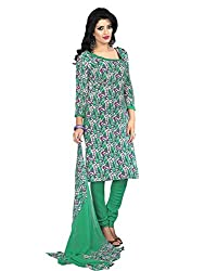 STYLE N DEAL Women's Crepe Unstitchced Dress Material (247D5011_Purple Green_Free Size )
