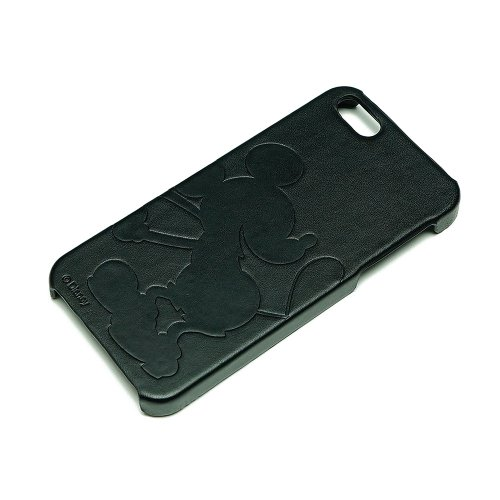 Special Sale Disney Leather Embossing iPhone 5 Case (Mickey Mouse/Black)