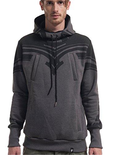 Street Habit -  Felpa con cappuccio  - Maniche lunghe  - Uomo grigio Large